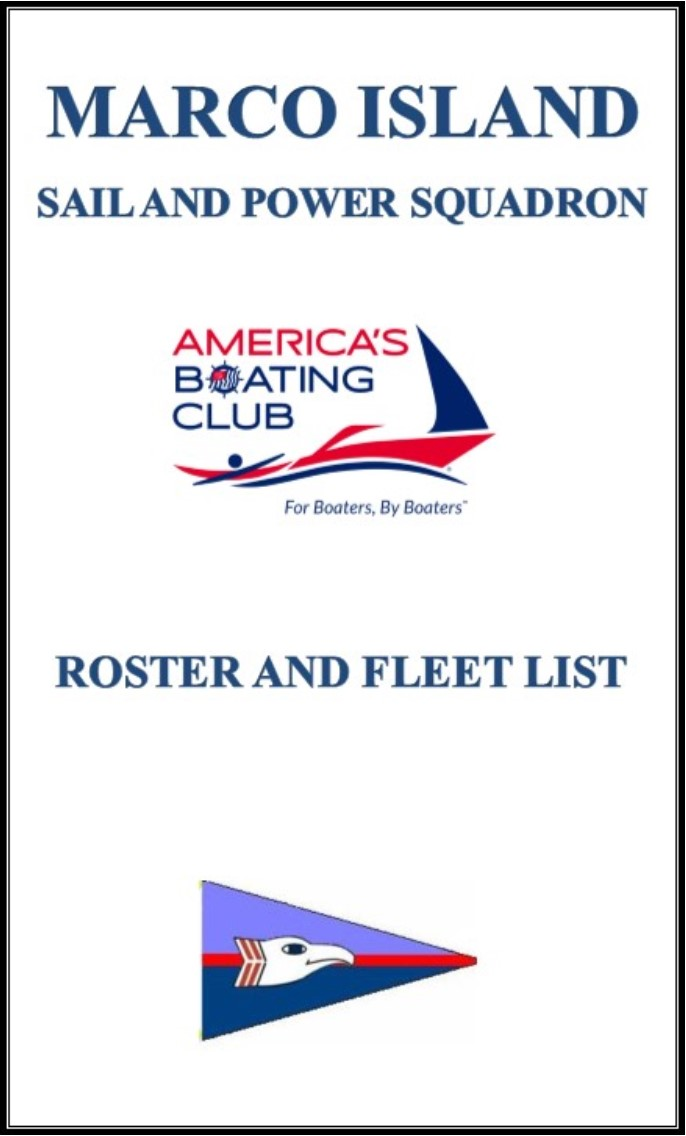 Picture of cover of Roster and Fleet List for America's Boating Club - Marco Island